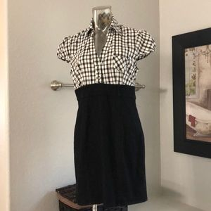 Dresses & Skirts - Dress  black and white top solid black denim